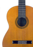klassisk gitarr för huvuddel Arkivbild