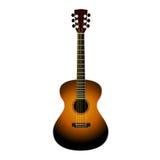 Klassisk gitarr på en vit Arkivfoton