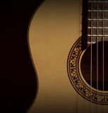 Klassisk gitarrcloseup? På vit bakgrund Royaltyfria Bilder