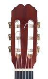 klassisk gitarrheadstock Royaltyfri Foto