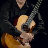 Klassisk gitarrist royaltyfri foto