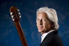 klassisk gitarrist Arkivbild