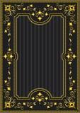 Klassisk guld- ram med den orientaliska modellen Arkivbild