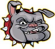 klassisk head illustration för bulldogg stock illustrationer