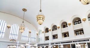 Klassisk inre av Denver Union Station Royaltyfri Fotografi