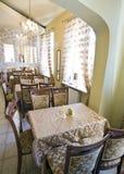 klassisk inre restaurang Fotografering för Bildbyråer