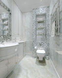 Klassisk inre toalett Arkivfoto