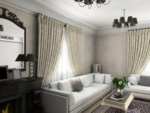 klassisk interior royaltyfri illustrationer