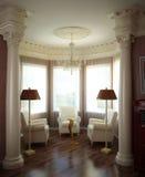 klassisk interior 3d Royaltyfria Foton