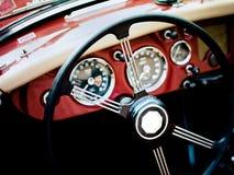 klassisk interior för bil Arkivfoton