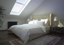klassisk interior för sovrum Arkivfoton