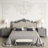 klassisk interior för sovrum Digital illustration framförande 3d vektor illustrationer