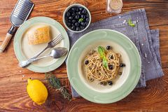 Klassisk italiensk pasta Arkivbild