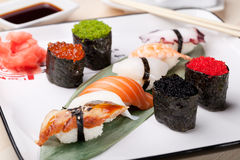 Klassisk japansk mat Arkivbilder