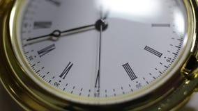 Klassisk klocka för jakt lager videofilmer
