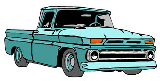 klassisk lastbil Arkivfoton