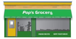 klassisk livsmedelsbutik Royaltyfri Bild