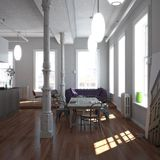 klassisk loft New York Arkivbilder