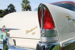 Klassisk lyxig amerikansk detalj för bilsvanslampa royaltyfria bilder
