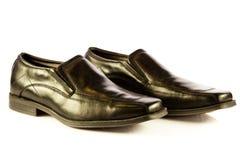 Klassisk mans skor som isoleras på vit bakgrund Fotografering för Bildbyråer