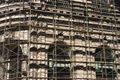 klassisk material till byggnadsställning Arkivbild