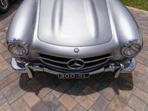 Klassisk Mercedes 300-SL näsa Arkivbild