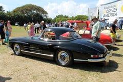 Klassisk mercedes toppen sportbil och kabin arkivfoton