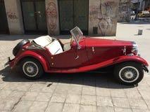 Klassisk MG sportbil Arkivbild