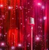 klassisk mikrofon royaltyfri illustrationer