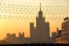 klassisk moscow russia s stalin tornsikt Royaltyfri Foto