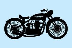 klassisk motorcykel Royaltyfri Fotografi
