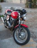 klassisk motorcykel Arkivbild
