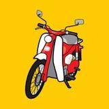 Klassisk motorcykel C100 för vektorillustration royaltyfri fotografi