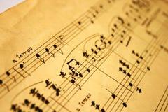 klassisk musikanmärkningar Royaltyfria Bilder