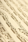 klassisk musikark Royaltyfria Bilder