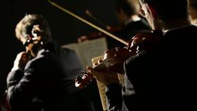 Klassisk musikkonsert stock video