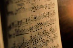 Klassisk musiksida Royaltyfri Foto