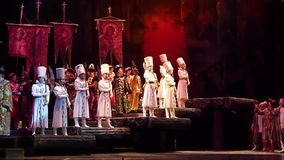 Klassisk opera Borys Godunov arkivfilmer