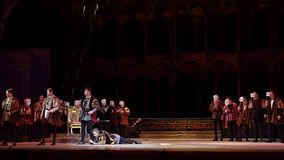 Klassisk opera Rigoletto stock video