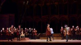Klassisk opera Rigoletto arkivfilmer