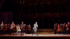 Klassisk opera Rigoletto lager videofilmer