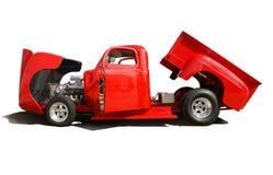 klassisk röd lastbil Royaltyfri Fotografi
