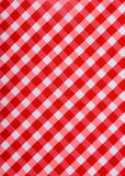 Klassisk röd tabelltorkduk Royaltyfria Foton