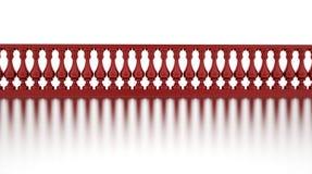 Klassisk röd trappräcke med reflexion Arkivbilder
