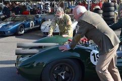 Klassisk racerbil på det 72nd GRRC-medlemmötet Fotografering för Bildbyråer