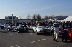 Klassisk racerbil på det 72nd GRRC-medlemmötet Arkivbild