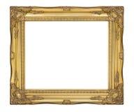 Klassisk ram för gammal guld Antikviteten, tappningbildram Fotografering för Bildbyråer