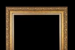 Klassisk ram för målningar med stuckaturen på en svart bakgrund royaltyfri bild
