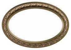 klassisk ram isolerad oval bild w för spegel Royaltyfri Fotografi