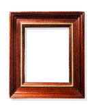 klassisk ram isolerat vitt trä Arkivbilder